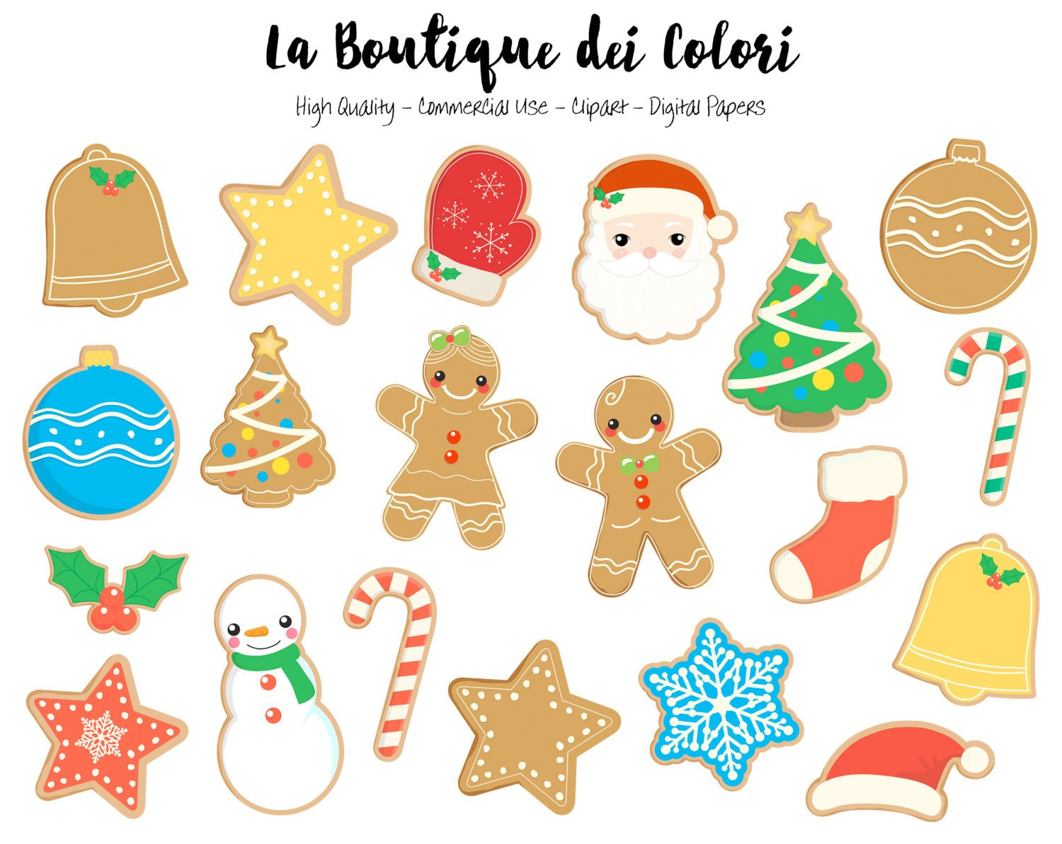 Gingerbread cookie clipart freeuse Christmas Gingerbread Cookies Clipart freeuse