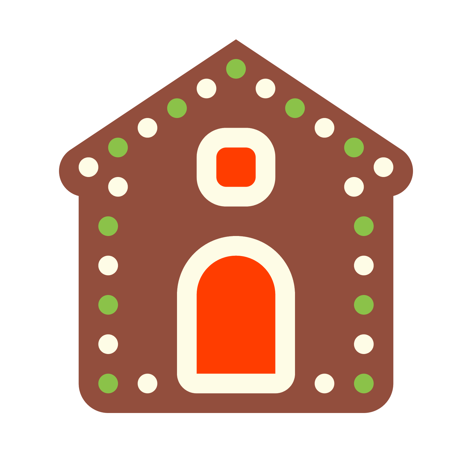 Gingerbread house windows clipart clip black and white stock Gingerbread House Icon - free download, PNG and vector clip black and white stock