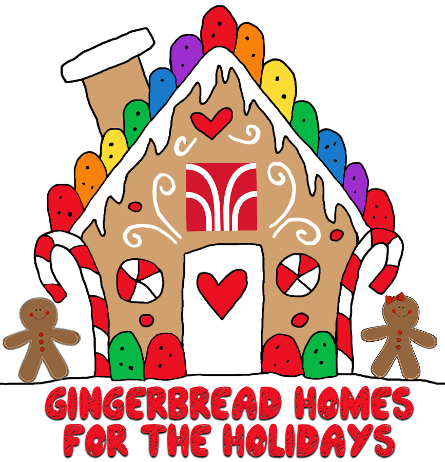 Gingerbread house door clipart banner royalty free Gingerbread Homes for the Holidays banner royalty free