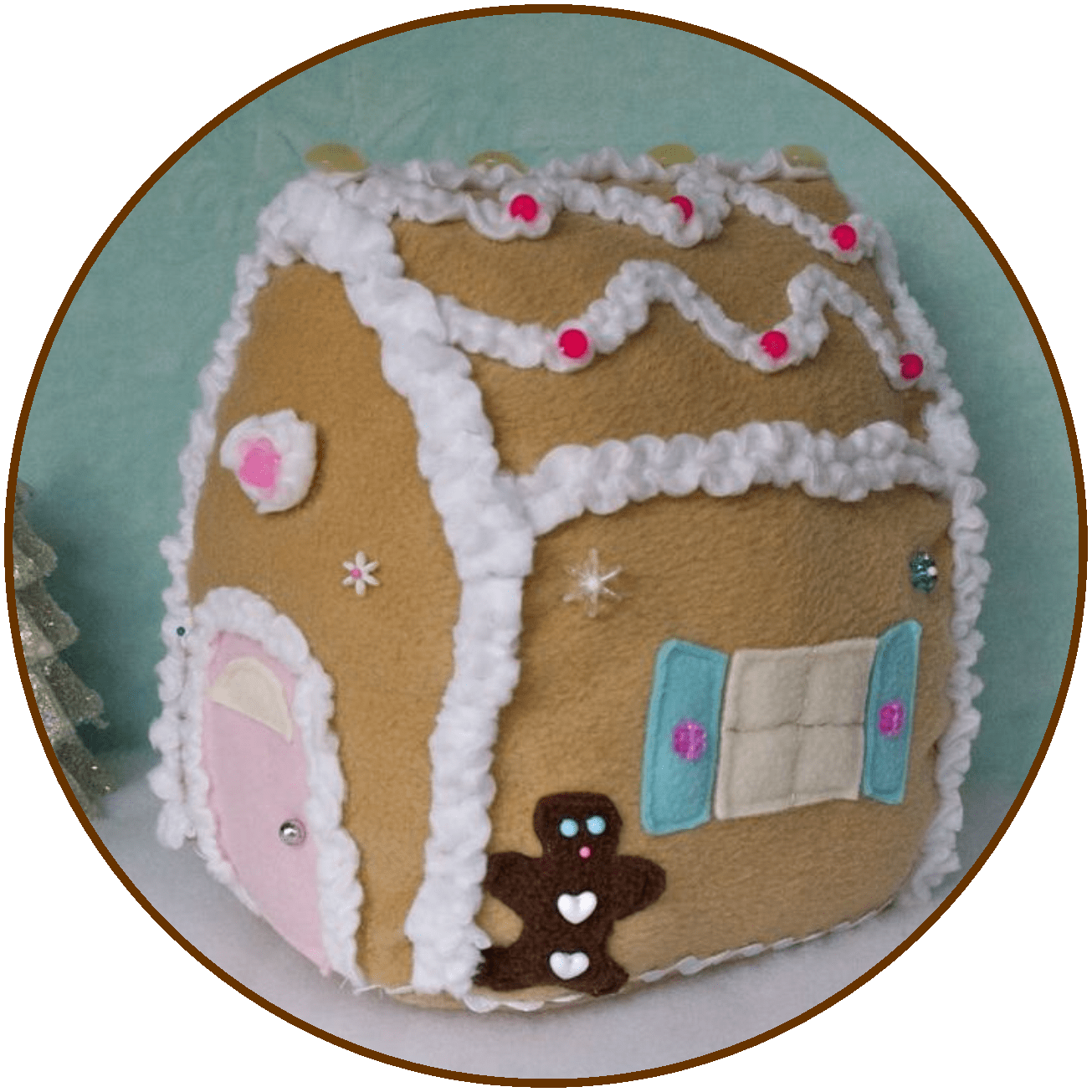 Gingerbread house icing template clipart vector royalty free sewing cottage gingerbread house - cute gingerbread house for Christmas vector royalty free
