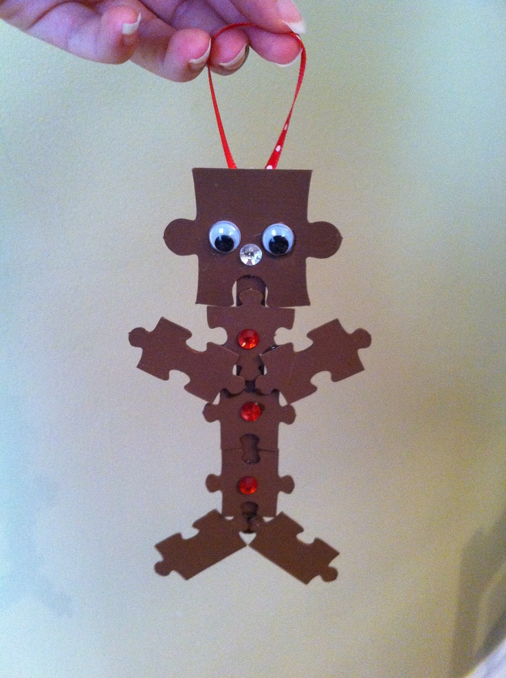 Gingerbread man filled with puzzle pieces clipart clip art transparent library 1000+ images about puzzle on Pinterest | Christmas tree ornaments ... clip art transparent library