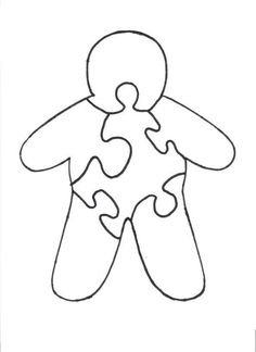 Gingerbread man filled with puzzle pieces clipart svg black and white stock Google Image Result for http://foilman.com/images/heart.gif = love ... svg black and white stock