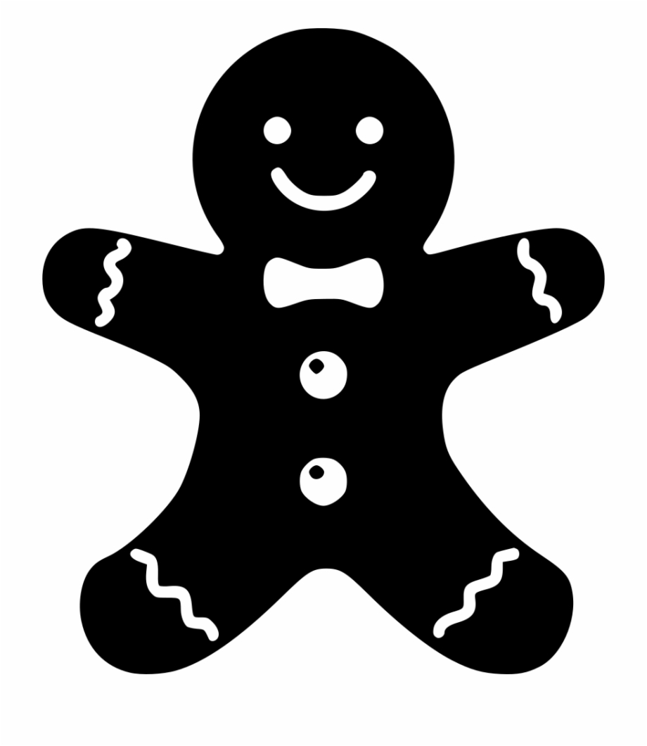 Gingerbread man silhouette clipart clip art transparent stock Png File Christmas Gingerbread Man Silhouette - Clip Art Library clip art transparent stock