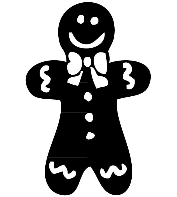 Gingerbread man silhouette clipart image free stock Gingerbread Man Silhouette Group with 76+ items image free stock