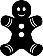 Gingerbread man silhouette clipart svg transparent Gingerbread Man Silhouette | Free download best Gingerbread Man ... svg transparent