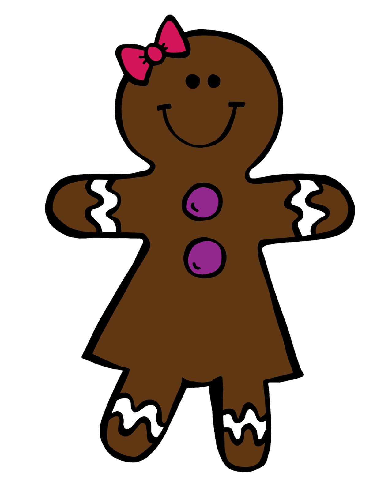 Gingerbread turkey clipart clip transparent The Art of Teaching in Today's World: Gingerbread Boy & Girl Clipart ... clip transparent