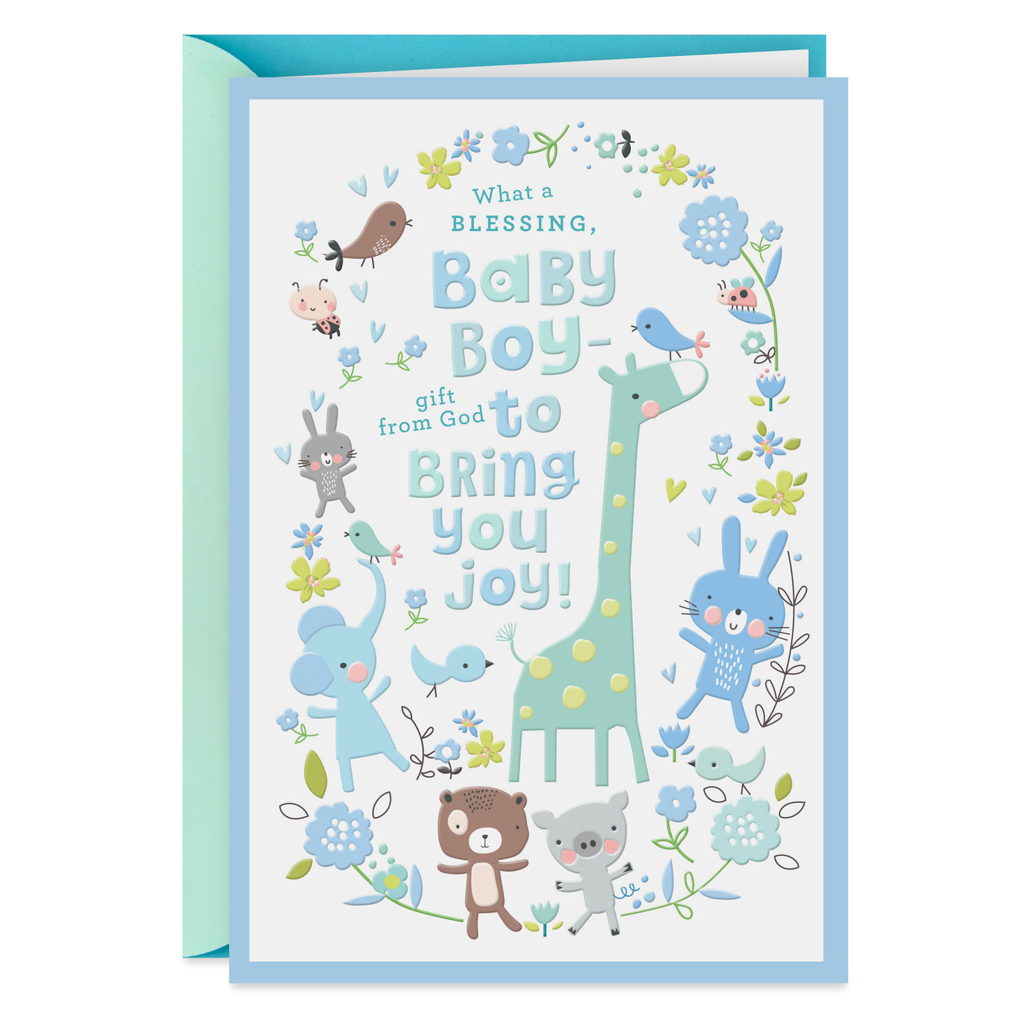 Giraffe boy clipart desktop baby gift card clipart Giraffe and Animal Friends New Baby Boy Card clipart