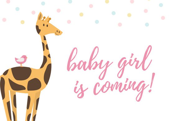 Giraffe boy clipart desktop baby gift card svg free download Baby Shower Card - Templates by Canva svg free download