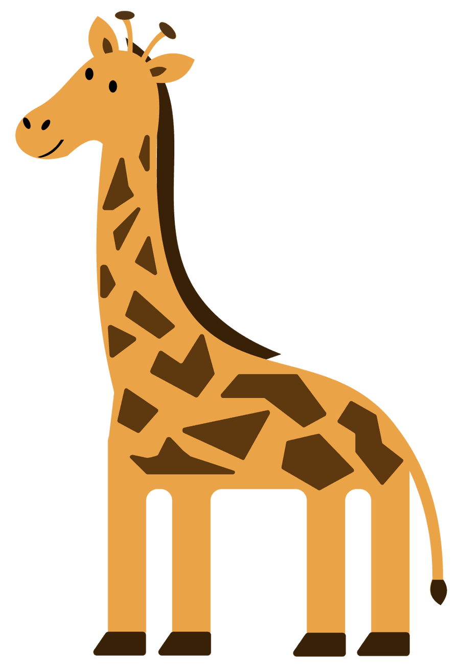 Giraffe heart clipart vector stock Giraffe Clipart 91 | me | Pinterest | Giraffe vector stock