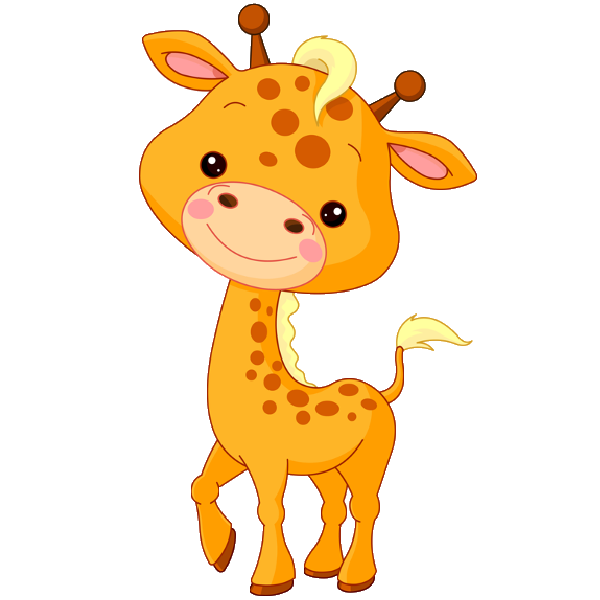 Giraffe heart clipart banner stock Cute Baby Giraffe Cartoon | Here| Here is a baby giraffe as part of ... banner stock