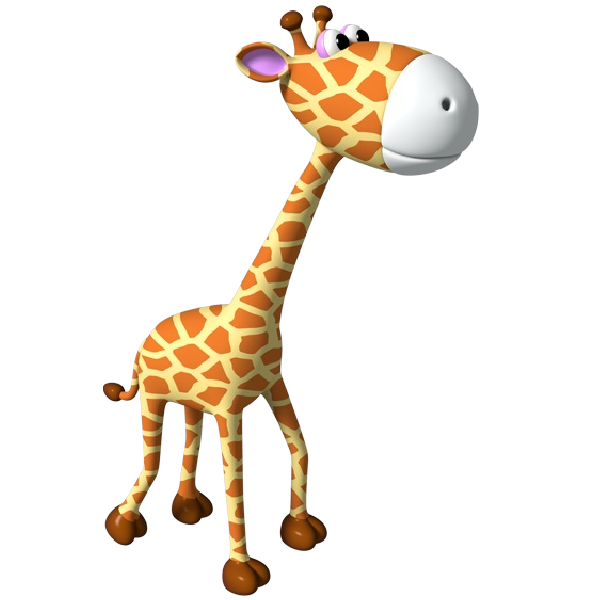 Giraffe heart clipart banner Simple giraffe outline cute giraffe clipart applique image #8146 ... banner