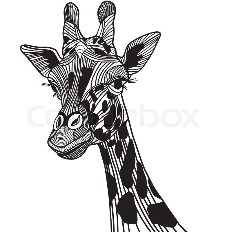 Giraffe kopf clipart banner freeuse download Giraffe Kopf Vektor -Illustration für Tier t -shirt Skizze Tattoo ... banner freeuse download