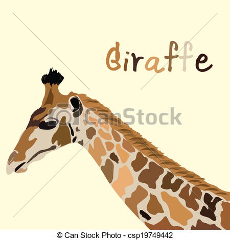 Giraffe kopf clipart clip black and white library Vector Clipart of Vector images of shetland sheepdog head on a ... clip black and white library