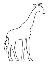 Giraffe outline clipart black and white free clip freeuse Pin by Jennifer on crafts | Giraffes cant dance, Giraffe pattern ... clip freeuse