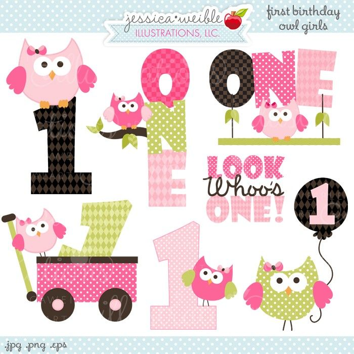 Girl 1st birthday clipart picture black and white download 1000+ images about First Birthday-girl on Pinterest | Birthdays ... picture black and white download