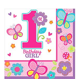 Girl 1st birthday clipart vector free library Sweet Girl 1st Birthday Party - Fun Party Supplies vector free library