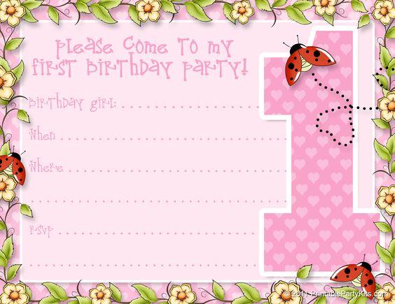 Girl 1st birthday clipart image royalty free FREE PRINTABLE GIRLS 1ST BIRTHDAY INVITATION TEMPLATES - Google ... image royalty free