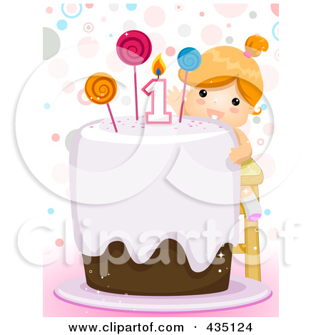Girl 1st birthday clipart image freeuse library Royalty-Free (RF) First Birthday Clipart, Illustrations, Vector ... image freeuse library