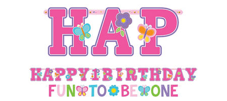 Girl 1st birthday clipart banner png transparent Sweet Girl 1st Birthday Party Supplies - 1st Birthday Party ... png transparent