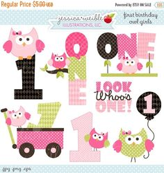Girl 1st birthday clipart banner clip royalty free library I am one, Owl high chair banner, banner, first birthday, girl ... clip royalty free library