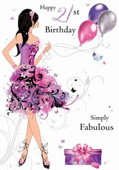 Girl 21st birthday clipart banner black and white download 21 happy birthday quotes | Funny 21st Birthday Graphics ... banner black and white download