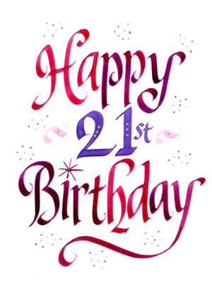 Girl 21st birthday clipart png stock 21 Happy Birthday Clipart - Clipart Kid png stock