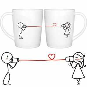 Girl and boy looking at mug clipart banner free library Details about Couple Coffee Mug Set Girl Boy Friend Valentines His Hers  Anniversary Gift 12oz banner free library
