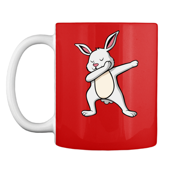 Girl and boy looking at mug clipart svg black and white Dabbing Easter Bunny Shirts For Boys and Girls White Rabbit Mug svg black and white