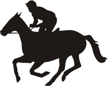 Girl and racehorse clipart black and white picture transparent Race Horse Clipart   Free download best Race Horse Clipart on ... picture transparent