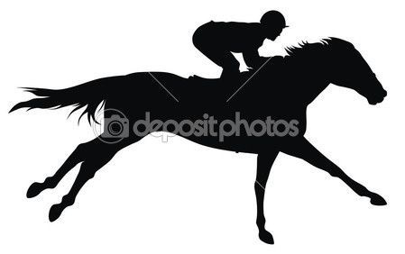 Girl and racehorse clipart black and white picture transparent race horse silhouette   Horse racing — Stock Vector © Dimitar ... picture transparent