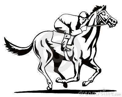 Girl and racehorse clipart black and white graphic free stock thoroughbred race horse template   Horse And Jockey On A Winning ... graphic free stock