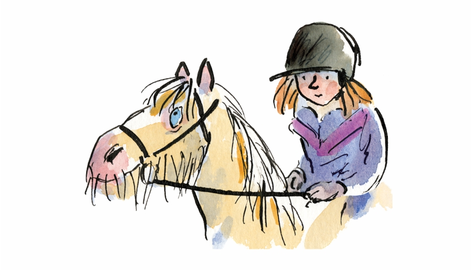 Girl and racehorse clipart black and white picture free Girl Riding Horse - Racehorse Who Wouldn T Gallop, Transparent Png ... picture free