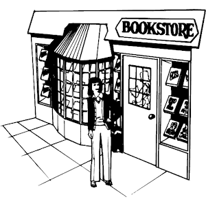 Girl at a bookstore clipart black and white png black and white library Free Bookstore Cliparts, Download Free Clip Art, Free Clip Art on ... png black and white library