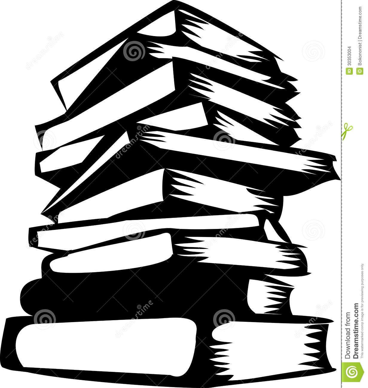 Girl at a bookstore clipart black and white jpg transparent Stacked books Silhouette | Use these free images for your websites ... jpg transparent