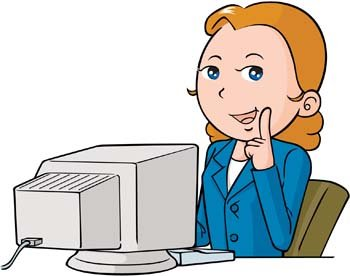 Girl at computer clipart clipart free library Free Girls and computer vector 51s Clipart and Vector Graphics ... clipart free library