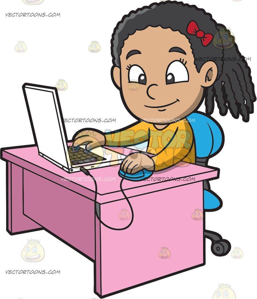 Girl at computer clipart image royalty free Girl with computer clipart 6 » Clipart Portal image royalty free