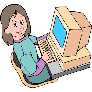 Girl at computer clipart svg download Girl at Computer 2 clipart, cliparts of Girl at Computer 2 free ... svg download