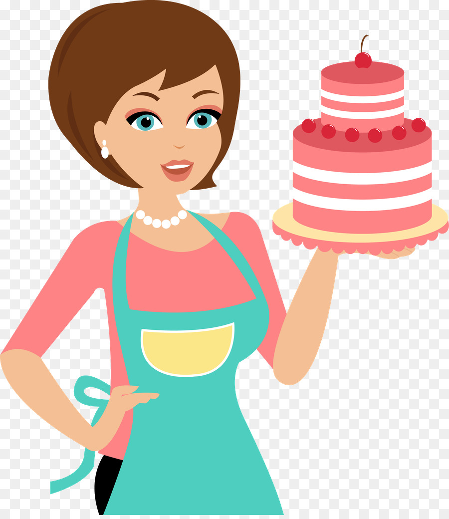 Girl baker clipart svg transparent stock Cake Cartoon clipart - Bakery, Woman, Illustration, transparent clip art svg transparent stock