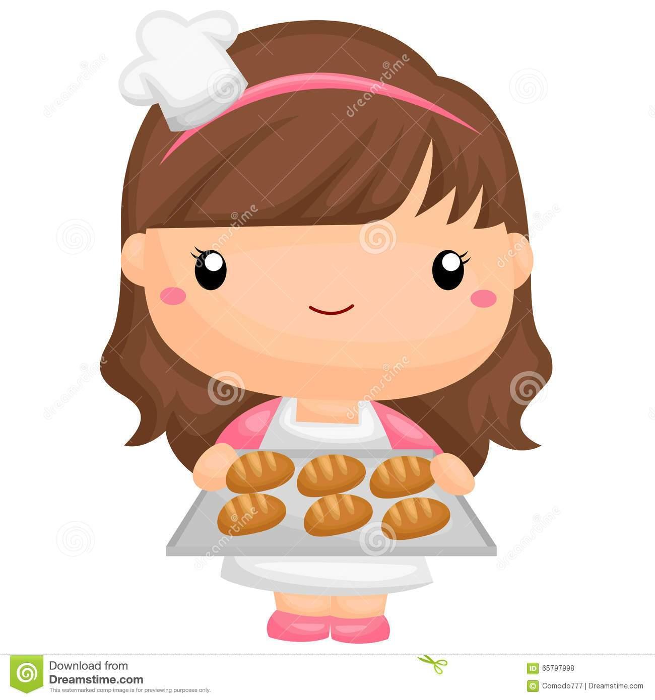 Girl baker clipart vector download Baker girl clipart 1 » Clipart Portal vector download