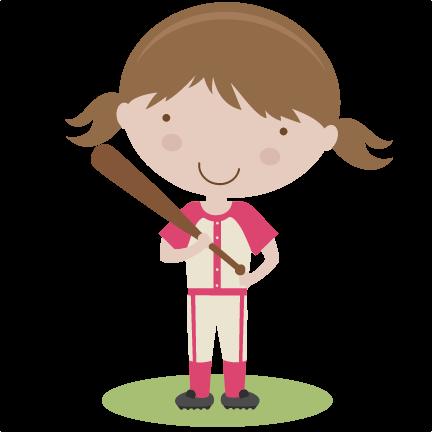 Girl baseball player clipart vector free Baseball Girl Cliparts - Cliparts Zone vector free