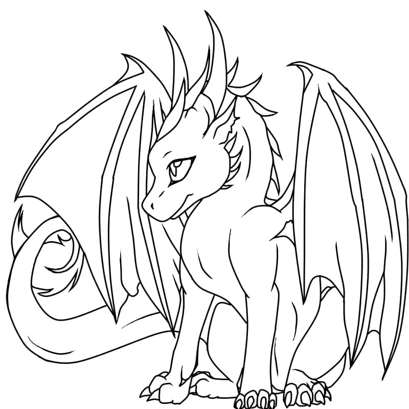 Girl clipart black and white adult coloring book png transparent stock Coloring book Dragon Drawing Child Adult, Girl Dragon transparent ... png transparent stock