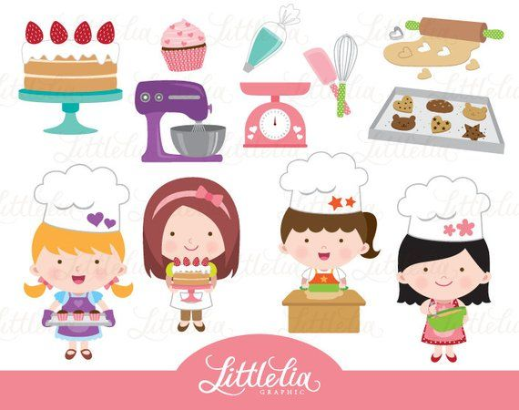 Girl cooking clipart image download Baking girl clipart - girls cooking clipart - 15106 | Products ... image download