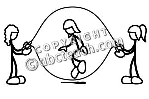 Girl double dutching clipart clipart black and white library Girl double dutching clipart - ClipartFest clipart black and white library