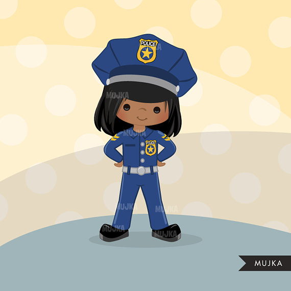 Girl dressed up as a police officer clipart jpg royalty free Cops, police officer clipart, Little girl clipart graphics, planner ... jpg royalty free