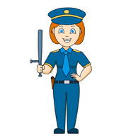 Girl dressed up as a police officer clipart clipart freeuse stock Collection of 14 free Women clipart police man aztec clipart vintage ... clipart freeuse stock