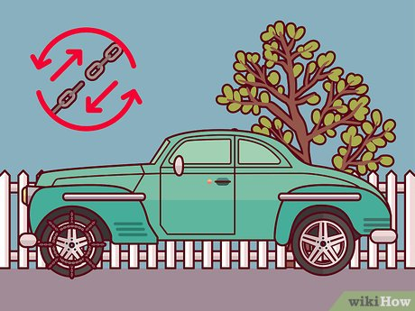 Girl driving jeep with dog clipart png royalty free stock How to Install Snow Chains on Tires: 14 Steps (with Pictures) png royalty free stock