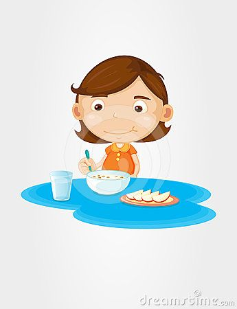 Girl eating breakfast cliparts clipart freeuse download eat breakfast clipart girl - Google Search | Kid Stuff | Clip art ... clipart freeuse download