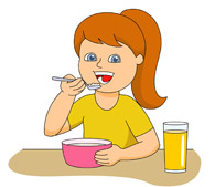 Girl eating breakfast cliparts image freeuse download 61+ Breakfast Clipart | ClipartLook image freeuse download