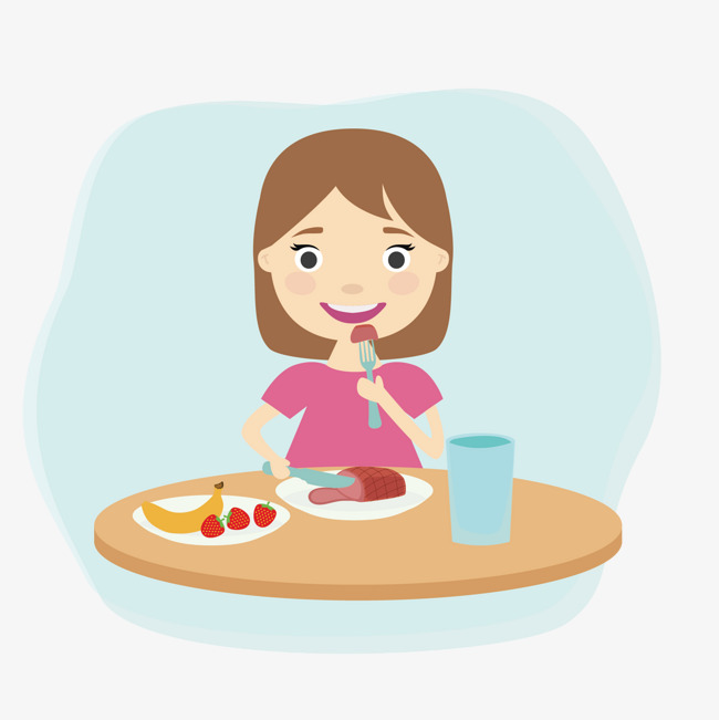 Girl eating breakfast cliparts clipart library library Vector Little Girl Eating Breakfast, Vector, Little Girl, Eat - 651 ... clipart library library