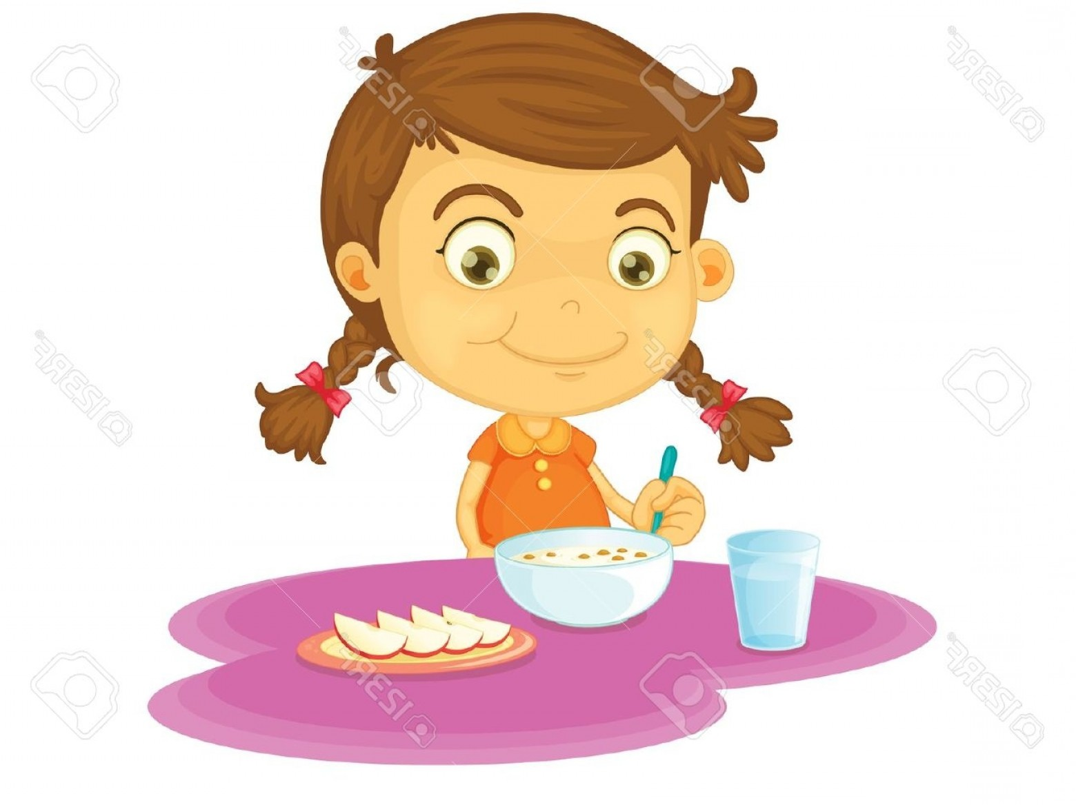 Girl eating breakfast cliparts image freeuse Girl Eating Clipart | Free download best Girl Eating Clipart on ... image freeuse